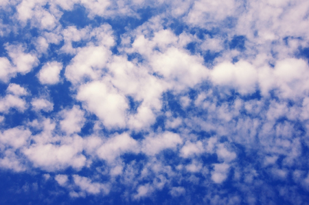 Background from the blue sky with white clouds Stock Photo