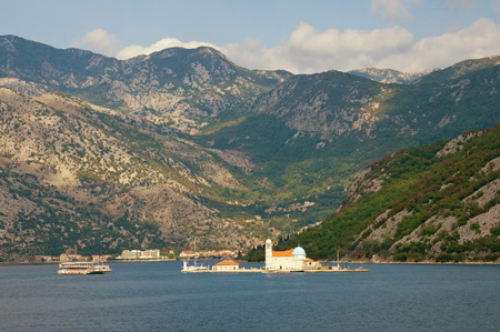 Island of Our Lady of The Rocks (Gospa od Skrpjela). Bay of Kotor, Montenegro, autumn
