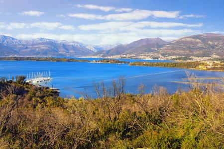 Beautiful winter Mediterranean landscape. Montenegro, Adriatic Sea. View of Bay of Kotor from Lustica peninsula 写真素材
