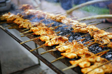hawker: Delicious Grilled Chicken at Malay Hawker store