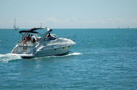 Boating on Lake Michigan