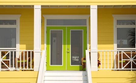 A very colorful entrance way to a Pensacola Florida home