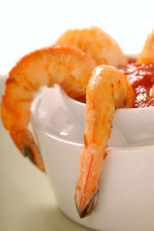 tangy: Sauteed shrimp cocktail with a tangy cocktail sauce