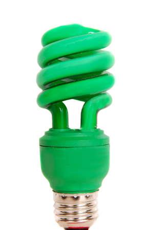 Ecology concept of an energy efficient green light bulb