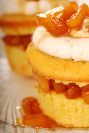 amaretto: Freshly baked pineapple and amaretto cupcake with vanilla icing