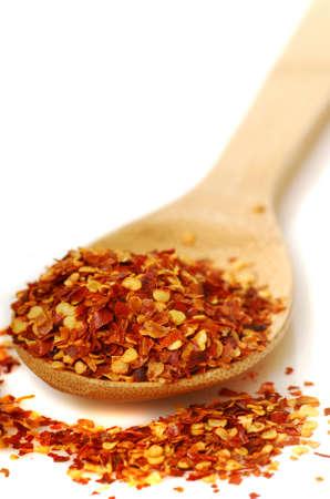 cuiller�e: Cuiller�e de flocons � chaud poivron rouge italien appel� peperoncino