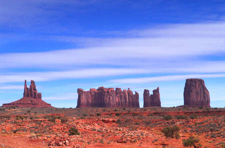 tribal park: Dramatic view of a section of Artist Point in Monument Valley.