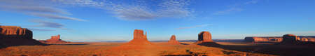 monument valley view: Dramatic panoramic view of Artist Point at Monument Valley Stock Photo