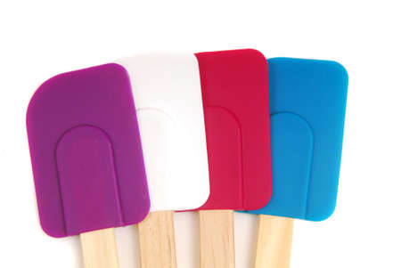silicone: Four rubber and silicone spatulas in different colors