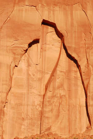 Effects of erosion on a rock face in Navajo Nation Park Monument Valley Stock Photo - 6689098