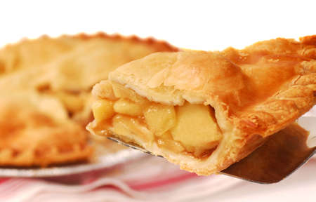 apple pie: Deliciosa rebanada de pastel de manzana reci�n horneada en una esp�tula  Foto de archivo