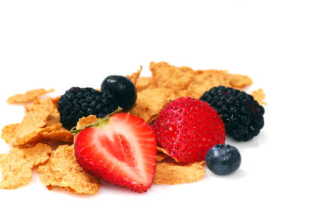 Delicious Bran breakfast cereal with fresh fruit