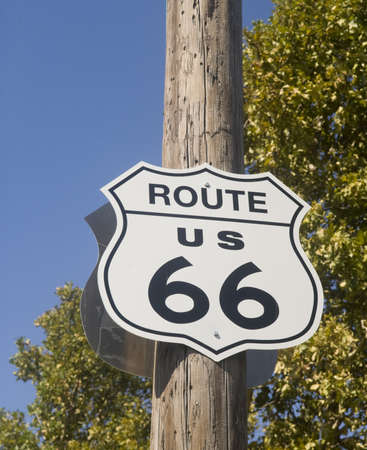 Old historic Route 66 sign found along the historic roadway Stock Photo - 8040508