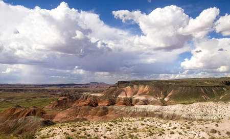 Scenic area of the Painted Desert National Park along historic Route 66 in Arizona photo