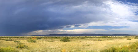 Dark storm clouds forming in New Mexico along the famous Route 66 photo