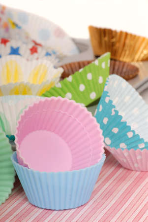 Variety of cupcake liners in different colors