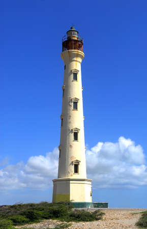 aruba: The California Lighthouse in Aruba located on the West shore of the island Stock Photo