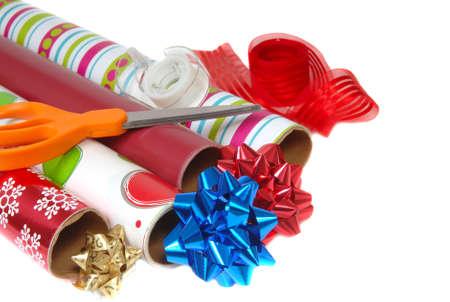 eventos especiales: El papel de envolver festivo colorido de la Navidad u otros eventos especiales
