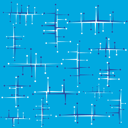 Abstract retro design on a blue background