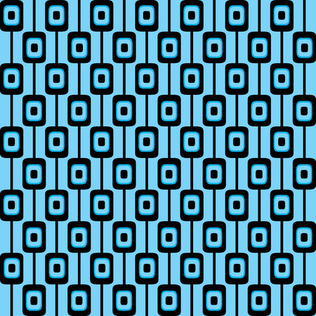 Funky retro pattern background in blue and black