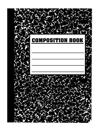 School notecomposition book Ilustracja
