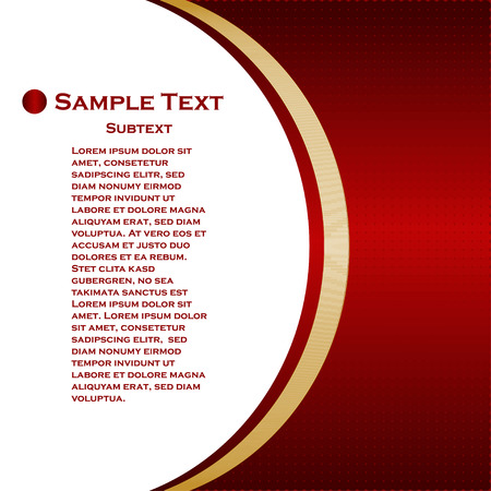 Abstract halftone red background with copyspace