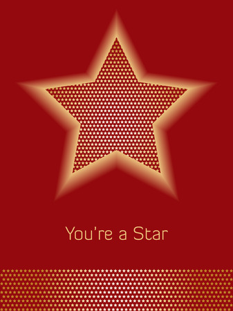Red and Gold Star Background with room for copy
