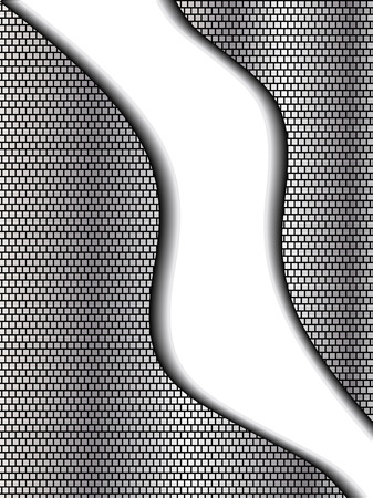 Abstract chrome and black background with room for copy 矢量图像