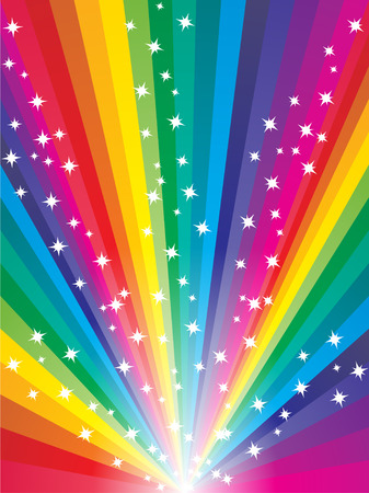 Abstract colorful starry rainbow background Stock Vector - 5447074