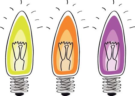 Light bulb sketch cartoon symbol of innovation and good ideas Stock Vector - 12480114