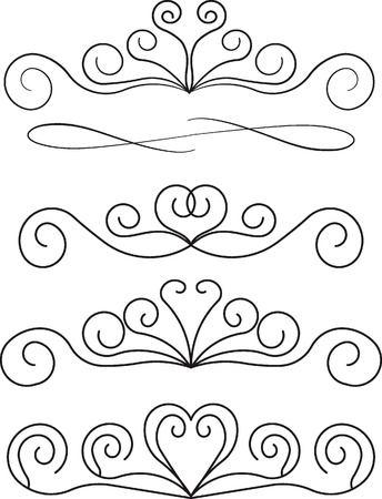 fretwork: decorative design elements   Illustration