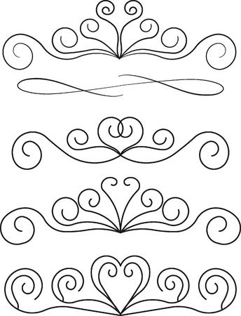 grecas: elementos decorativos de diseño Vectores