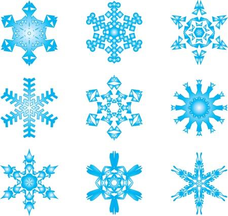 Snowflakes set Stock Vector - 15659070