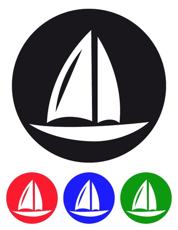 Sailboards icon Vector