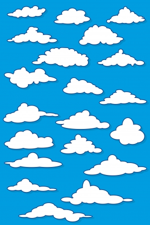 Fabulous clouds   Illustration