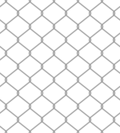 Vector illustration of chain fence. Seamless pattern Illustration
