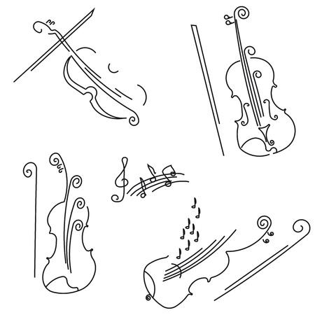 예행 연습: 바이올린. 디자인을위한 컬렉션.
