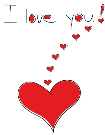 i love you sign: The heart of the lover. Declaration of love. Valentine.