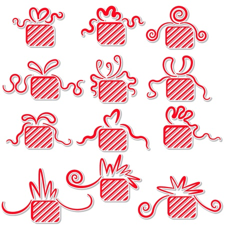 Holiday gifts with ribbons Stock Vector - 16700700