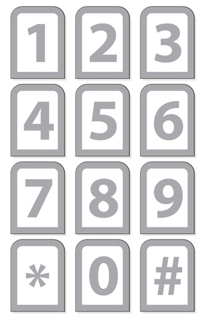 Vector illustration of a number phone keypad