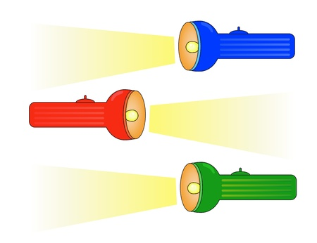 Set of colourful lashlights   A Vector illustration