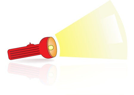 Red flashlight   A Vector illustration Illustration