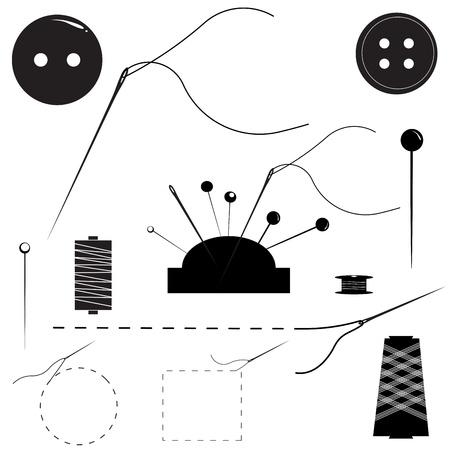 kit de costura: Sewing Supplies Una ilustración vectorial