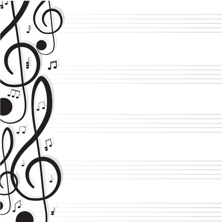 notation: Treble clef for your design  A illustration Illustration
