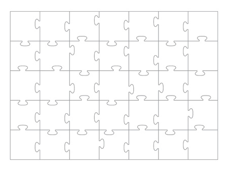 Jigsaw Puzzle template 35 pieces