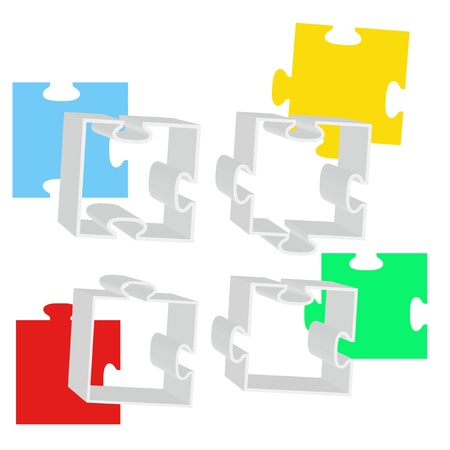 Abstract background with puzzle  Vector illustration  Stock Vector - 19137872