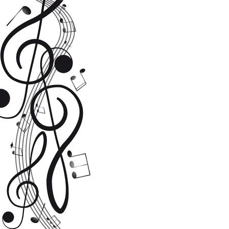 musical notes: Clef agudo para su dise?na ilustraci?ectorial
