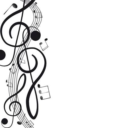 music sheet: Treble clef for your design  A vector illustration Illustration