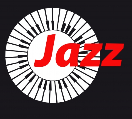 Jazz  Keyboard on dark background  A vector illustration Vector
