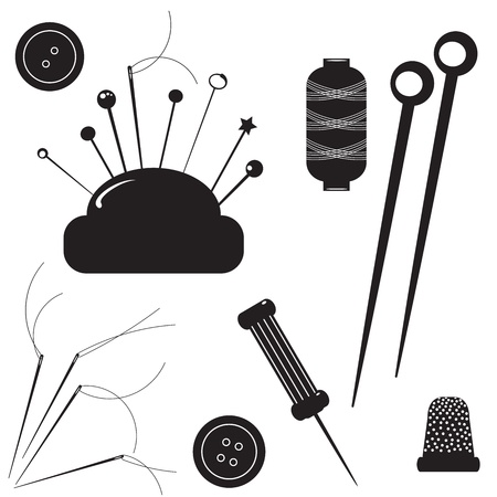 skein: Sewing kit  Set for sewing on a white background